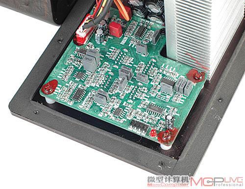 tl084和tl082组成的运算阵列可实现电子分频,频率微调以及电声优化等