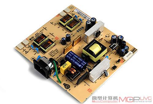 ccfl背光显示器拆机讲解  ccfl 两边分别是供电模组以及主控电路模组